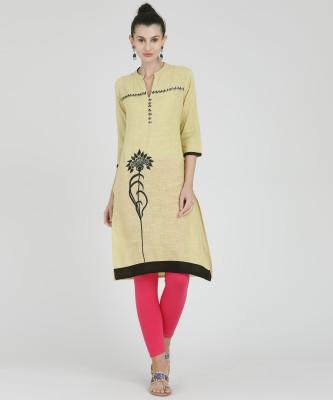 Mokshi Women Embroidered Flared Kurta(Red)