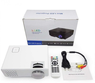 Zahuu Full HD LED Home Theater Projector (White) Portable Projector(White)
