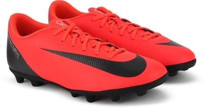 Nike VAPOR 12 CLUB CR7 FG/MG Football Shoes For Men(Red, Black) 1