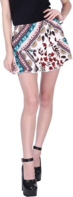 Nish Creation Printed Women Regular Multicolor Skirt