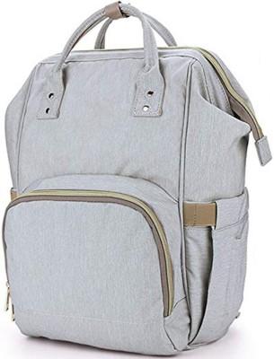 HOUSE OF QUIRK Water Resistant Baby Diaper Bag Grey Maternity Backpack (DIAPER BAG_GREY) Backpack Diaper Bag(Grey)