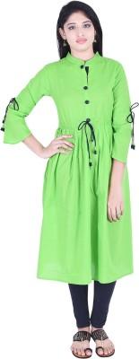 THE NK Store Women's Self Design, Solid Anarkali Kurta(Light Green)