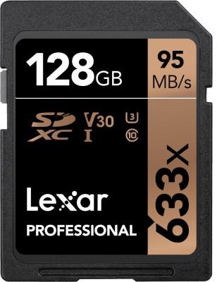 Lexar 633x 128  GB SDXC Class 10 95 Mbps Memory Card Lexar Memory Cards