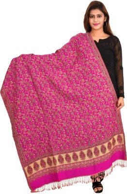JARS Collections Pure Wool Floral Print Women Shawl(Multicolor)