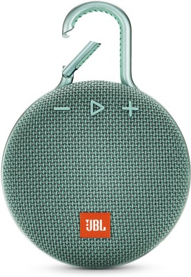JBL CLIP 3 Portable Bluetooth Speaker (Teal, Stereo Channel)