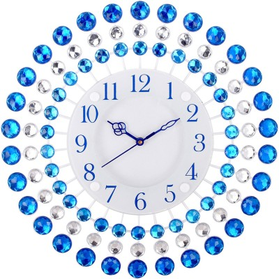 Urban Vibe Analog 36 cm X 8 cm Wall Clock(Blue, With Glass) at flipkart