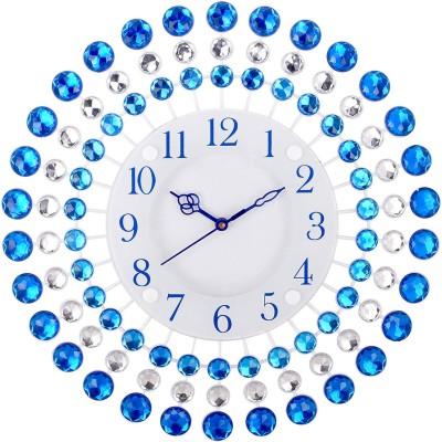Urban Vibe Analog 36 cm X 8 cm Wall Clock(Blue, With Glass) at flipkart