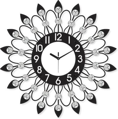 Prateek Exports Analog 46 cm X 6 cm Wall Clock(Black, With Glass) at flipkart