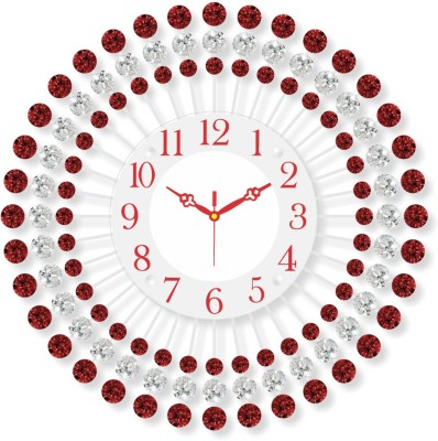 Treasure Trove Analog 5 cm X 46 cm Wall Clock(Black, With Glass) at flipkart