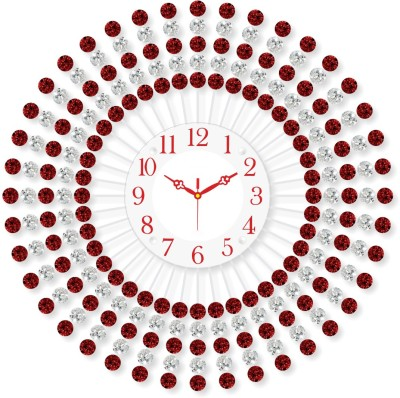 Chronikle Analog 60 cm X 6 cm Wall Clock(Red, With Glass) at flipkart