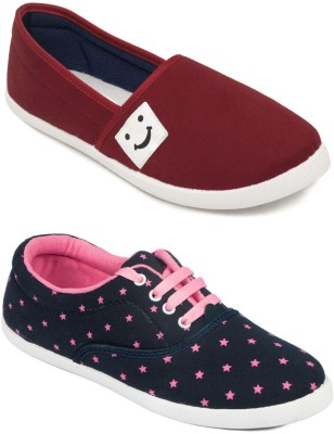 ASIAN Canvas Shoes For Women Navy, Red ASIAN Canvas