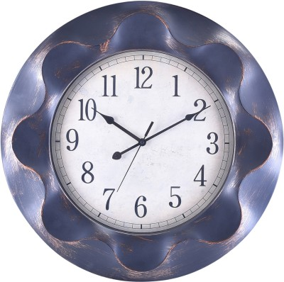 eCraftIndia Analog 62 cm X 9 cm Wall Clock(Brown, With Glass) at flipkart