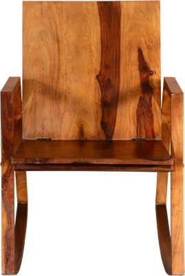 Saffron Art and Craft Sheesham Wood Solid Wood 1 Seater Rocking Chairs(Finish Color - Light Walnut)