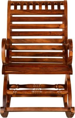Vintej Home Wesley Sheesham Solid Wood 1 Seater Rocking Chairs(Finish Color - Honey Oak)