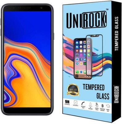 Unirock Tempered Glass Guard for Samsung Galaxy J4 Plus (Black, 32 GB) (2 GB RAM)(Pack of 1)