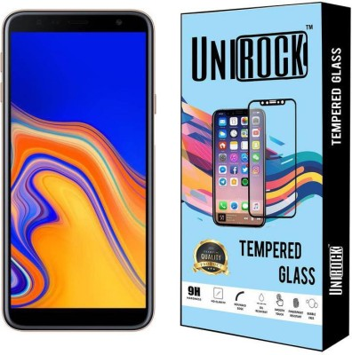Unirock Tempered Glass Guard for Samsung Galaxy J4 Plus (Gold, 32 GB) (2 GB RAM)(Pack of 1)