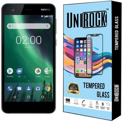 Unirock Tempered Glass Guard for Nokia 2 (Pewter/ Black, 8 GB) (1 GB RAM)(Pack of 1)