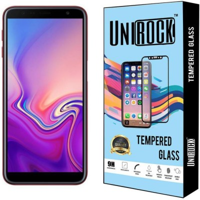 Unirock Tempered Glass Guard for Samsung Galaxy J6 Plus (Red, 64 GB) (4 GB RAM)(Pack of 1)