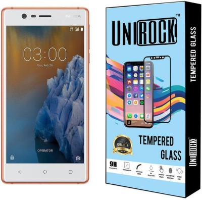 Unirock Tempered Glass Guard for Nokia 3 (Copper White, 16 GB) (2 GB RAM)(Pack of 1)