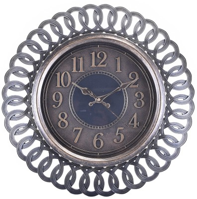 eCraftIndia Analog 55 cm X 5 cm Wall Clock(Brown, With Glass) at flipkart