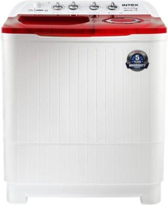 Intex 7 kg Semi Automatic Top Load Washing Machine Red((WMSA75AR) (Intex)  Buy Online