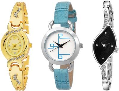UNU Combo Of Three Multicolour Party~Wedding Designer Stylish UU-49 Women And Girls Watch  - For Women