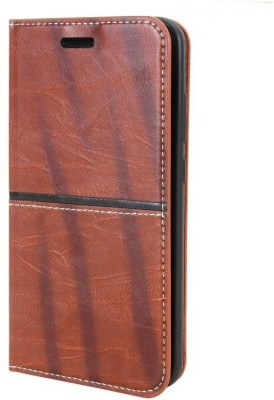 Mobizworld Flip Cover for LENOVO A6000 CORE Brown