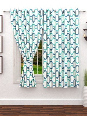 Story@Home 152 cm (5 ft) Polyester Window Curtain (Pack Of 2)(Abstract, Green) at flipkart