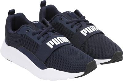 PUMA Boys   Girls Lace Sneakers Blue PUMA Casual Shoes