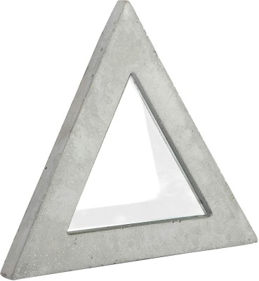 Casa Decor CDCM0003 Decorative Mirror(Triangle Finish : Grey) at flipkart
