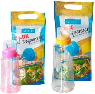 Steelo 500 ml, 1000 ml Cooking Oil Dispenser Set Pack of 2 Steelo Oil Dispensers