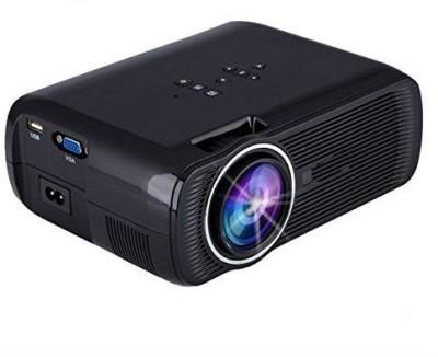 Zahuu Mini LED Portable Projector Portable Projector(Black)