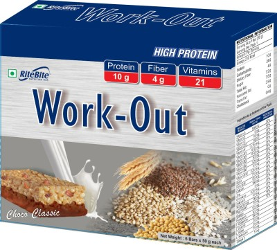 RiteBite Work Out Protein Bars(300 g, Chocolate)
