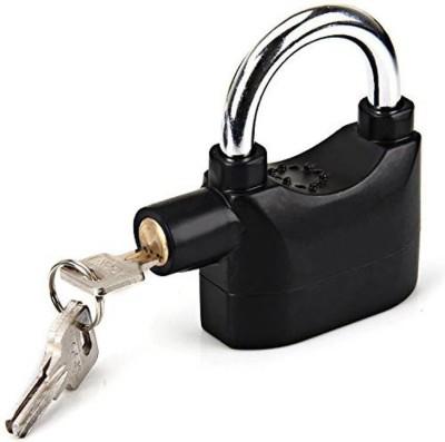 INDMART High Security Alarm Padlock (Black) Safety Lock(Black)