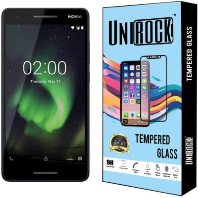 Unirock Tempered Glass Guard for Nokia 2.1 (Blue & Silver, 8 GB) (1 GB RAM)(Pack of 1)