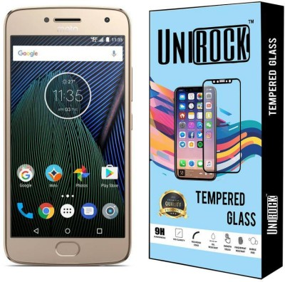 Unirock Tempered Glass Guard for Moto G5 Plus (Fine Gold, 32 GB) (4 GB RAM)(Pack of 1)