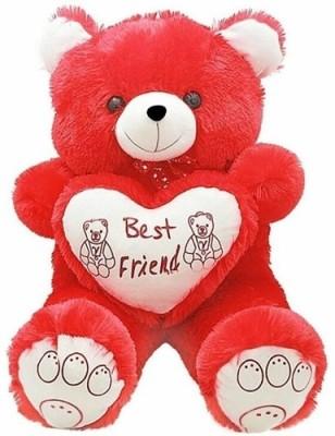 Ansh Soft Toy Best Friend Red Teddy Bear   70 cm Red Ansh Soft Toys