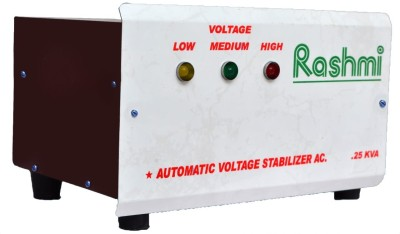 RASHMI 250 W Voltage Stabilizer White Brown RASHMI Voltage Stabilizers