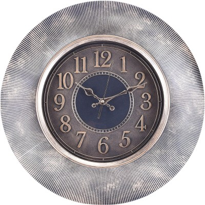 eCraftIndia Analog 50 cm X 8 cm Wall Clock(Grey, With Glass) at flipkart