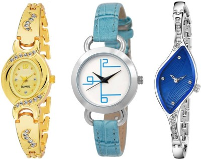UNU Combo Of Three (Formal+Casual+Party Wear) Designer Multicolour Women And Girls UU~49 Watch  - For Women