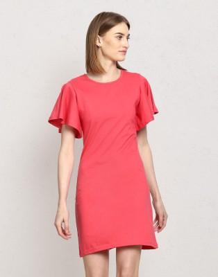 Metronaut Women Shift Pink Dress