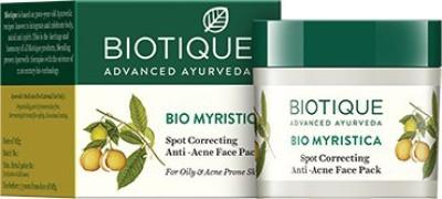 Biotique Bio Myristica Spot Correcting Anti Acne Face Pack 20 gm