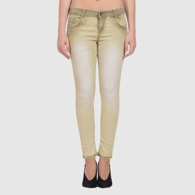 LYKRA Skinny Women Brown Jeans