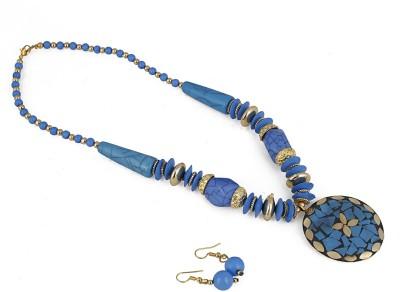 aradhya Alloy, Metal Jewel Set Blue
