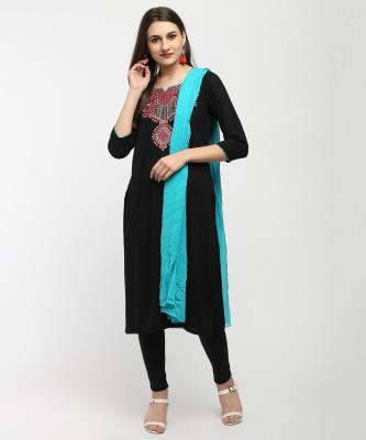 Imara Embroidered, Embellished Kurta & Leggings(Stitched)