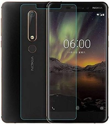 MD ORIGINAL Tempered Glass Guard for Edge to Edge 2.5D Thickness 9H Hardness Full HD Temper Glass for Nokia 6 (2018)(Pack of 1)