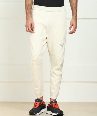 Puma Self Design Men Beige Track Pants at flipkart