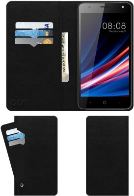 ACM Flip Cover for Micromax Spark Go(Black, Cases with Holder)