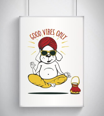 Shop King, Cool, Trendy, Quirky Rolled Posters,Good Vibes only Design, Add Some Quirkiness to Your Walls (12 x 18 in), Wall Frames are not Included - Only Posters Paper Print(12 inch X 18 inch, ONLY POSTER)