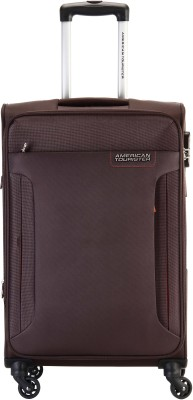 American Tourister AMT TROY SP 68 CHOCOLATE BROWN Expandable  Check-in Luggage - 27 inch(Brown) at flipkart